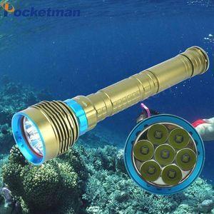 Linterna دي submarinismo LED XM-7 * L2 submarina linterna دي قضاء submarina antorcha alimentada بور batería 3X18650 / 26