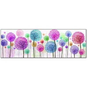 """Full Square Round Drill 5D DIY Diamond Painting """"Dandelion Flower"""" 3D Embroidery Cross Stitch 5D Rhinestone Home Decor Gift T200117"""