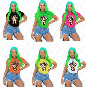 Negra vive Women Matter T-shirt Designer de Moda dos desenhos animados em torno do pescoço cobre T manga curta T-shirt Plus Size T Shirt Mulheres Roupa D7805