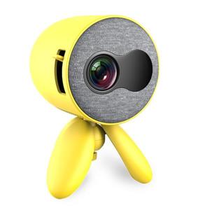 Home cinéma YG220 Mini Projecteur 480 * 272 pixels Prise en charge 1080P HDMI USB Portable mignon Projecteur tête réglable Lecteur vidéo pour enfants 6pcs