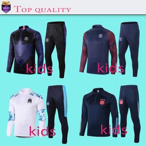 Per i bambini 2 pezzi set nuovo modo sportivi di calcio di Real Madrid Mbappe bambino tuta di autunno della molla Clothes + Pants