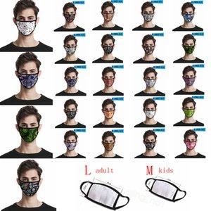 Paisley impreso enmascarar la raya de la flor del anacardo 3D máscara de impresión digital a prueba de polvo cubierta de boca lavable adultos niños máscaras CYF4294