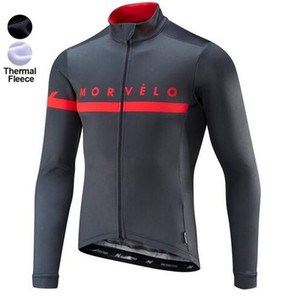 Morvelo Winter Thermal Fleece Cycling Jersey long sleeve Ropa ciclismo hombre Bicycle Wear Bike Clothing tops