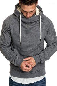Hoddies manches longues couleur unie Homme Vêtements Mode Patchwork Casual Vêtements Hommes Designer Pull en molleton à capuchon