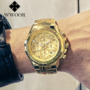 Relogio наручные часы Мужчина для мужчин 2020 Top Brand Luxury WWOOR Золотой хронограф Мужские часы Золото Большой Мужской наручные часы Человек 2019 CX200804