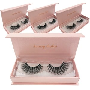 10 30 50 Fluffy Mink Eyelashes Wholesale Lashes with Box Soft Volume Natural Eyelasehs Makeup 3d Mink Lashes In Bulk