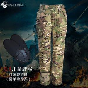 calças R0NzL Hanye G3 infantis cpcamouflage sapo roupas infantis Vestuário sapo roupas e forças especiais de mulheres treinando Clothin