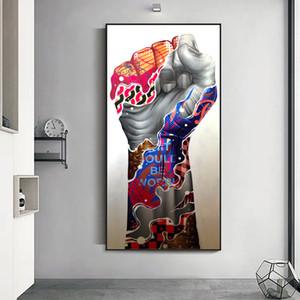 Salon Home Decor (No Frame) Wall Art Boyama Özet Graffiti El Kol Posterler Ve Baskılar Tuval
