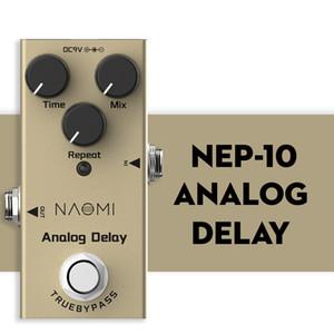 Педаль NAOMI Mini Delay Педаль электрическая гитара Analog Delay Эффект Истинный Обход алюминиевый сплав Материал