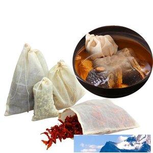 Heißer Großhandelsverkauf bewegliche 100pc 8x10cm Baumwolle Musselin wiederverwendbare Beutel des Verpackungsbadeseife Kräuter Filter Teebeutel