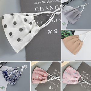 corlourful Flower fashion designer luxury Ice Silk Adult face mask Party washable Reusable Dust Windproof protect women printing Masks