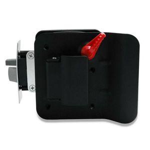 RV serratura nero RV Entrata serratura della manopola della maniglia w / Catenaccio Camper Travel Trailer Fermo chiave