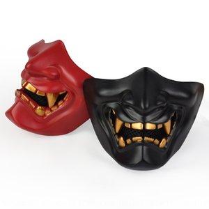 Nlocy Halloween Ball Half Tactical Tactical Tactical Mas Horror Halloween Prajna faccia risata Diavolo Prajna Mask Cos Devil Ride Ball Uomini e donne WPOA