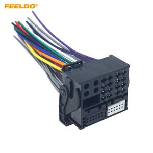 FEELDO Car Radio Installation Reverse Male Wire Wiring Harness Plug With 12Pin AUX Wire Plug For Audi BMW Volkswagen Mini Dodge #6469