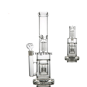 Big Tall Thick Glass Bongs Hookah Dab Oil Rigs Smoking Accessories Pipes Chicha Glass Water Pipes Recycler Bubbler 18MM Bowl