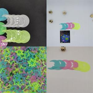 8cm 3D Stern leuchtende Aufkleber Plastics Gesicht Mond Formen Aufkleber-Kind-Baby-Raum Schlafzimmer Decken Home Decor 1 3yya E2
