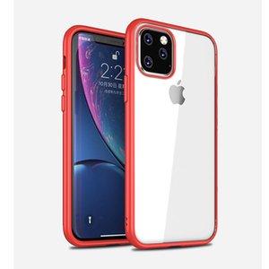 Ultra-Thin-TPU für iPhone 11 Pro Max X XS Max XR 7 8 Plus Schutzhüllen Matte Beschichtung PTU + PC Farbe Rahmen Stoß- Phone Cases