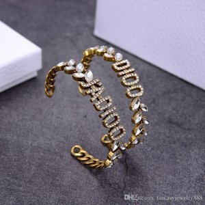 New retro wheat ears diamonds horse eye diamond opening designer bracelet luxury designer jewelry women bracelet