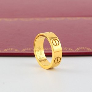 2020 Fashion version of classic nail Cartiеr ring titanium steel women on the ring 18k rose gold ring