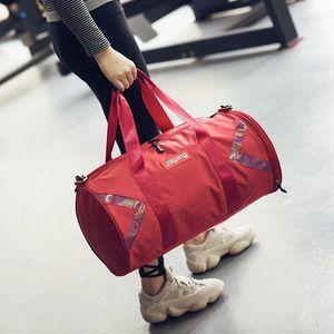 Bolsa de fitness Gimnasia Bolsas Mujeres Yoga Mat Sports Training Bag hombres impermeable al aire libre separación húmeda en seco Viaje Tas bolso saco de Bolsas Gumr #