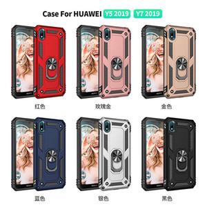 Bague Support Téléphone cas pour Huawei Y7 2019 / Y5 2019 Couverture pour Huawei Y5 Y7 2019 Shell Case Protection anti-choc Case Stand anneau