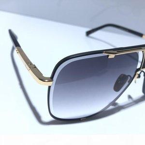 vaka üst kalite ile MACH klasik beş güneş gözlüğü erkek tasarımcı metal bağbozumu moda tarzı açık gözlük kare kare UV 400 lens