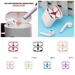 Dustproof Sticker Guard For Apple AirPods Pro Earphone Case Protective Sticker For AirPods 1 2 Cute Pattern Sticker Accessories With Packing