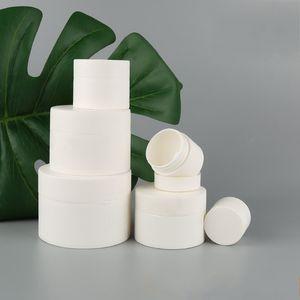 Bereifte weiße Creme der Box Leere Flasche Fall Separate Bottling kosmetische Gläser Behälter Kunststoff zylindrische Lippe Klar Jar Schönheit Werkzeug 2 45xb7 B2