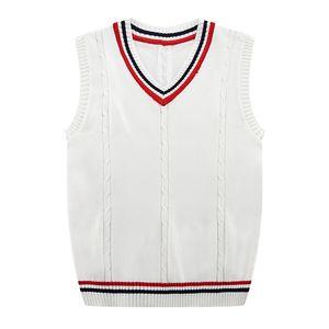 Herbst-Winter-2019 neue Männer Mode Fine Pur Color Business Leisure Vest Pullunder Male beiläufige adrette Art Sweater MX200711