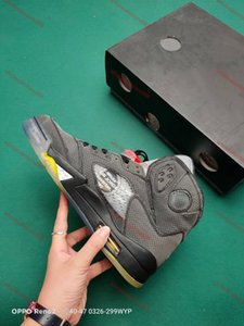 xshfbcl New Jumpman 5 5s OG men Basketball shoes Fire Red Top 3 travis scotts triple black oil grey 3m reflective mens progettista sneakers