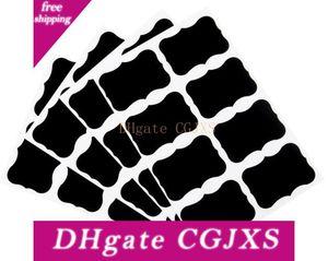 36pieces Fancy Mason Jar Wedding Chalkboard Labels , Wine Glass Drink Cup Label diy Reception Decoration idea Newest