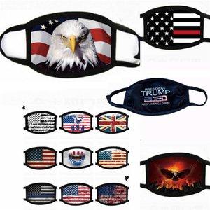 Máscaras Trump Cara 2020 Suprimentos eleição americana poeira Imprimir máscara protetora máscara Universal para homens e mulheres da bandeira americana Ciclismo