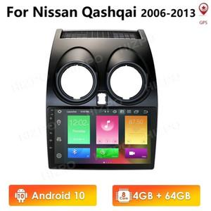 Freeshipping Android 10 4GB+64GB CarPlay Car Radio Multimidia Video Player GPS For Nissan Qashqai J10 2006-2013 2 din no-dvd 4G WIFI Nav Pc