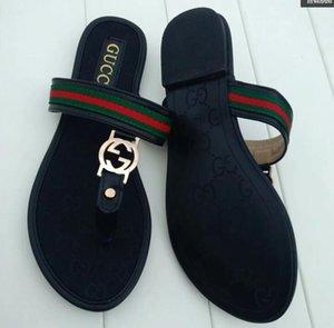 2021 sandals Fashion ggBrand Famous Thong Flip Flops Women Summer shoes Beach sandals leather