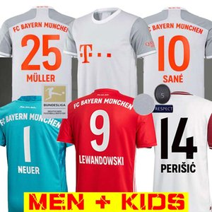 20 21 SANE LONGE LEWANDOWSKI Bayern de Munique Gnabry jérsei de futebol 2020 2021 camisa 120 shirt do futebol NIANZOU MUNCHEN Men + KIDS conjunto uniforme