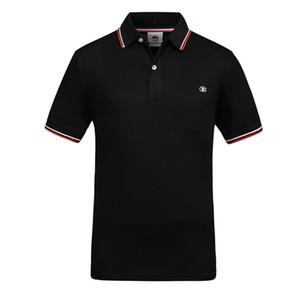 El diseñador de moda polos de los hombres de manga corta de la camiseta original de una sola solapa de polo de los hombres de la chaqueta deportiva Lacoste