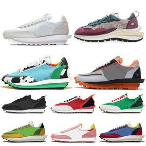 Nike Blazer Daybreak Sacai ld Waffle stock x Negro Blanco Nylon zapatillas para hombres mujeres Varsity Azul Verde Gusto zapatillas deportivas zapatillas de deporte