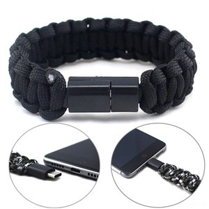Braided Paracord Bracelet With USB Type Hiking And Camping & Hiking C Cable Multifunction Survival Rope Bracelet Outdoor Camping Rescu dElX#