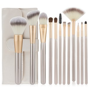12pcs Foundation Makeup Brush Sets Eye Blush Eyelash Make Up Brushes Set brocha de maquillaje PU Bag Packing