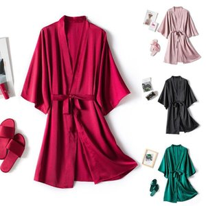 Spring Long Sleeve Night gown Women Robe Silk Dressing Gowns Lingerie Set Robe Bathrobe Ladies Summer Nightgown Nightdress Set