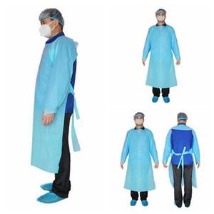 CPE de prendas protectoras desechables aislamiento Vestidos Ropa trajes de protección contra el polvo al aire libre Ropa de protección desechables impermeables RRA3330