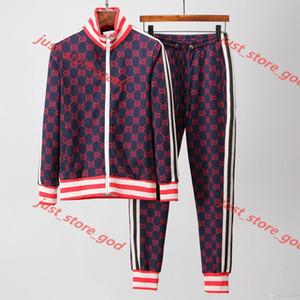 Gucci Clothes suit nuevos hombres de la moda deportiva de béisbol y las mujeres juntan los deportes de la cremallera de los pantalones del juego de damas luxe pantalones deportivos