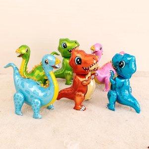 1PC كبير 4D المشي الديناصور البالونات احباط بنين الحيوان بالونات الاطفال الديناصور عيد ميلاد الحزب الجوراسي العالم ديكور بالون