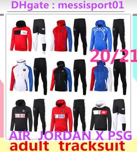 2020 2021 AIR Jordan X PSG chaqueta con capucha Survetement 2020/21 AIR Jordan PSG MBAPPE chaquetas de fútbol soccer HOODI