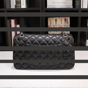 Top Quality Lambskin Black Classic Chain Flap Bags Women Shoulder Bag Female Crossbody Bag Brand Purses Handbags Designer chain bag