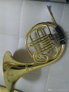Venta al por mayor de la trompa modelo de entrada, Bb plana Instrumentos de Viento Cuernos francesa con boquilla envío 170201