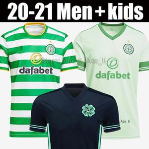 20 21 لكرة القدم سلتيك جيرسي 2020 2021 الرجال الأطفال قميص ريترو 1998 98 99 05 06 بعيدا الأسود 1999 1990 1992 قميص ايرلندا لكرة القدم