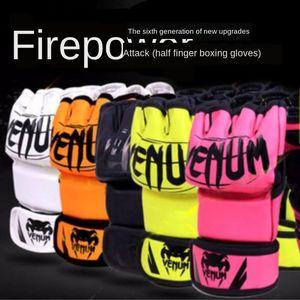 Профессиональные взрослые Санда перчатка и перчатки тайского бокс MMA половины палец палец бой пыльной тренировка по боксу рукав