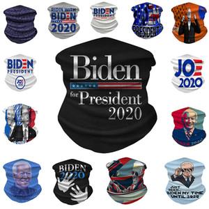 Biden Riding máscara 14 Estilos Biden 2020 Banderas de seda del hielo bicicleta de la bici de la bufanda mágica diadema Pañuelos Cara Máscara OOA8231