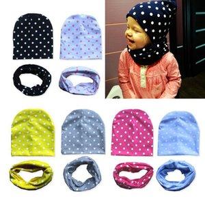 2 Pcs set Baby Hat Scarf Set Winter Autumn New Cute Dot Heart Baby Boy Girl Hat Cotton Bonnet Beanie For Kids Children Cap